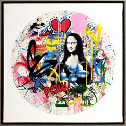 Roundabout - Mona Lisa by Mr. Brainwash - Original Painting on Box Canvas sized 28x28 inches. Available from Whitewall Galleries